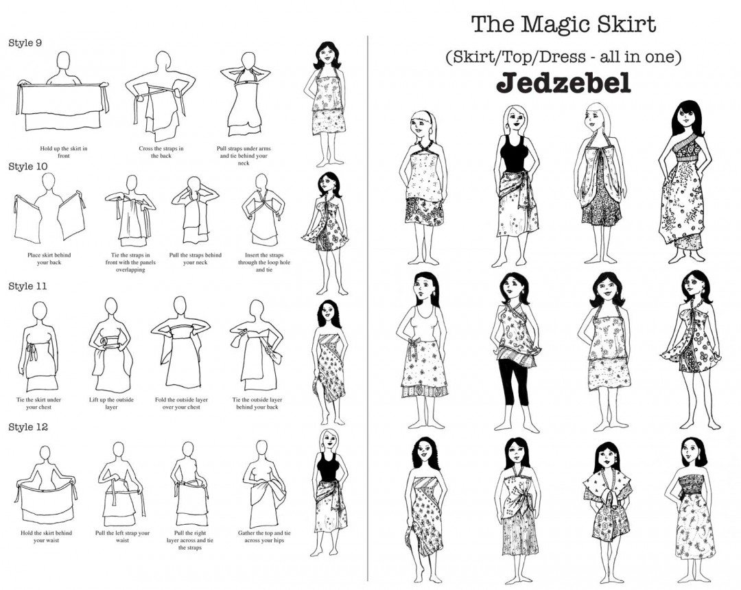 How to wear the Magic Skirt by Jedzebel pg 1